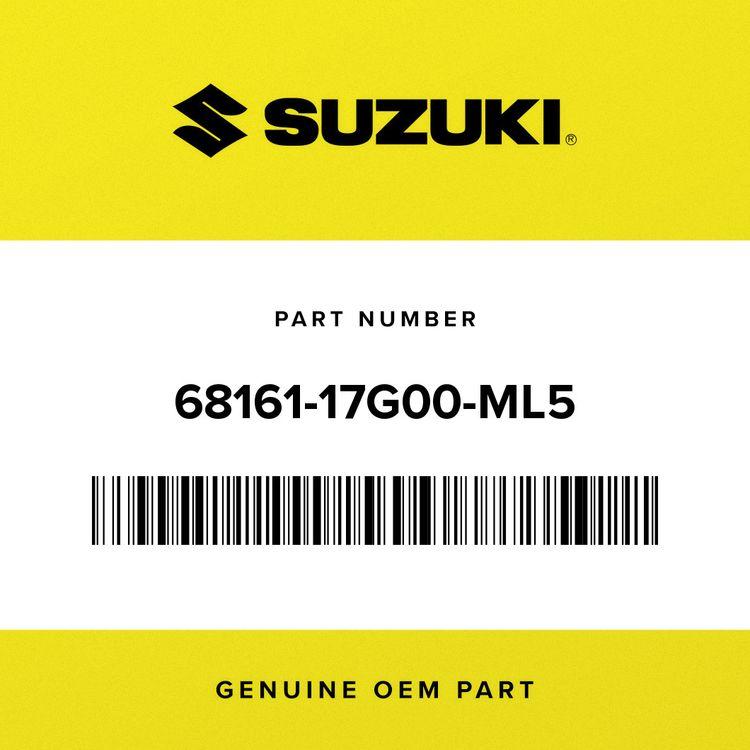 Suzuki EMBLEM, SEAT TAIL COVER 68161-17G00-ML5