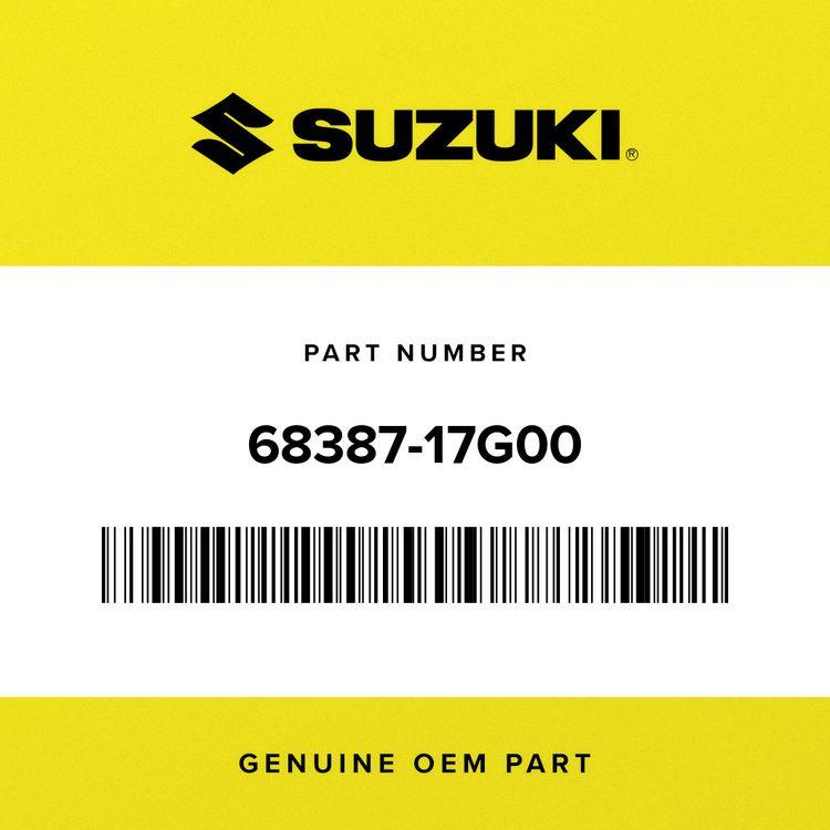 Suzuki LABEL, ROUTING 68387-17G00