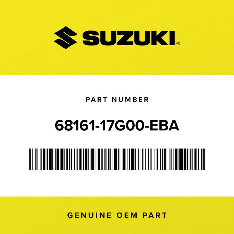 Suzuki EMBLEM, SEAT TAIL COVER 68161-17G00-EBA