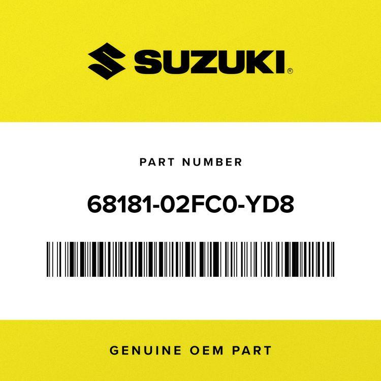 """Suzuki EMBLEM, """"SUZUKI"""" (SILVER) 68181-02FC0-YD8"""