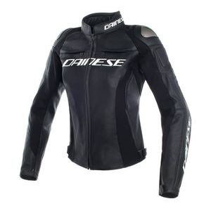 Dainese Racing 3 Perforated Women's Jacket Black/White/Fuchsia / 44 [Blemished - Very Good]