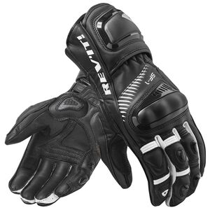 REV'IT! Spitfire Gloves Black/White / LG [Blemished - Very Good]