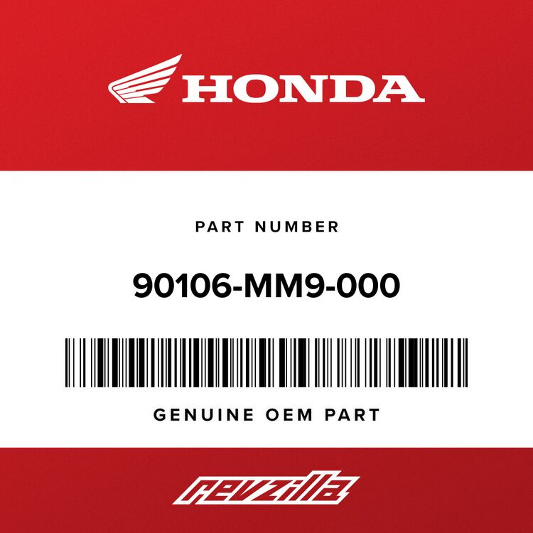 Honda BOLT, FR. FENDER FIXING 90106-MM9-000
