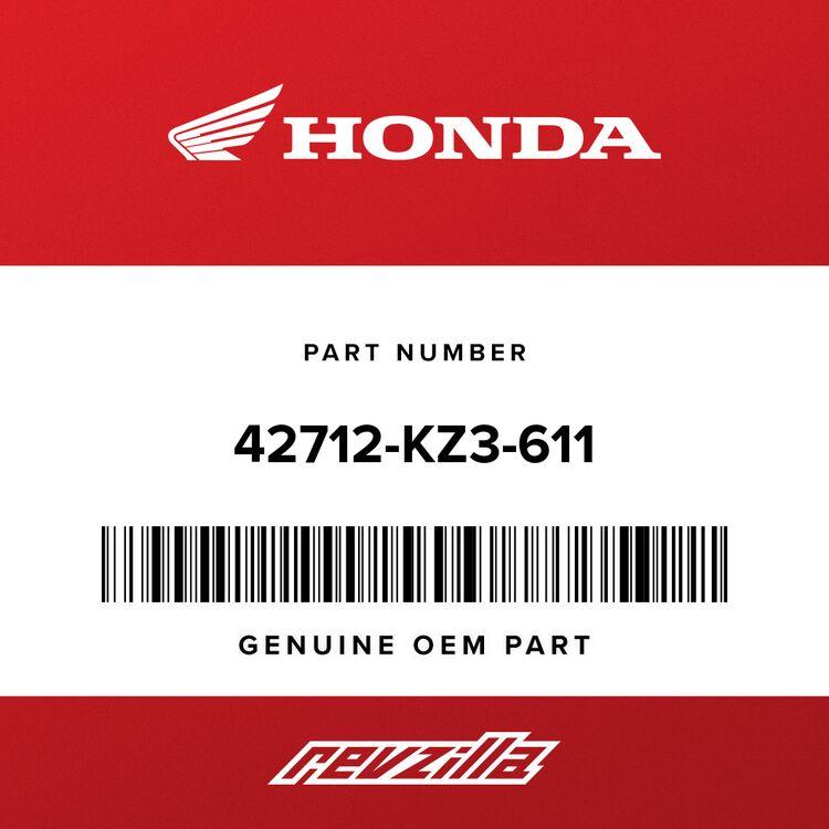 Honda TUBE, TIRE (DUNLOP) 42712-KZ3-611