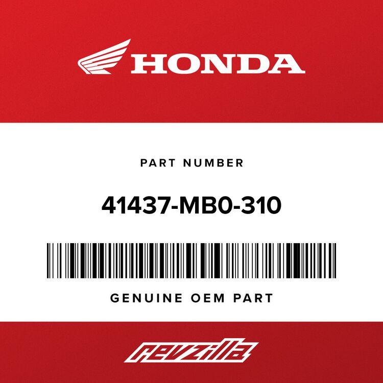 Honda SHIM A, STOPPER PIN (0.10) 41437-MB0-310