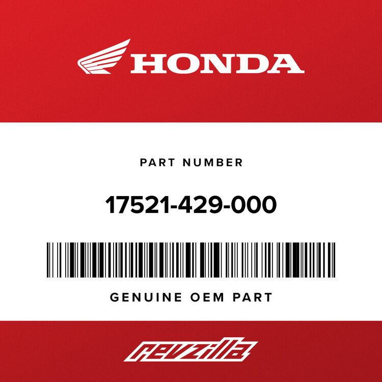 Honda TUBE, FUEL CAP BREATHER 17521-429-000