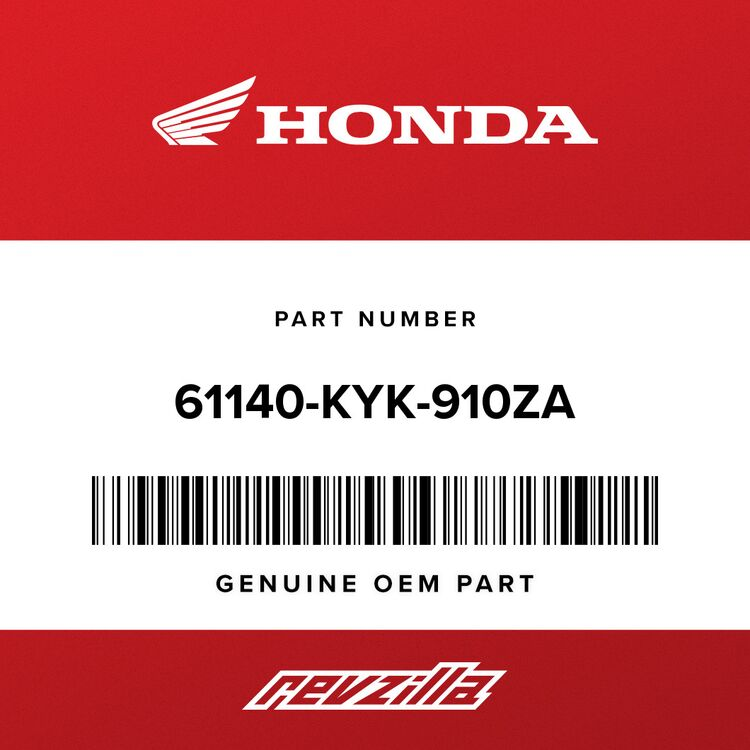 Honda PLATE SET, FR. NUMBER (TYPE1) (WL) 61140-KYK-910ZA