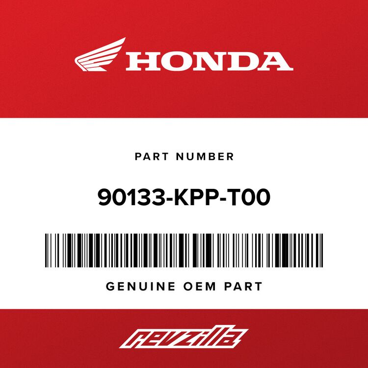 Honda SCREW, PAN (6X14) 90133-KPP-T00