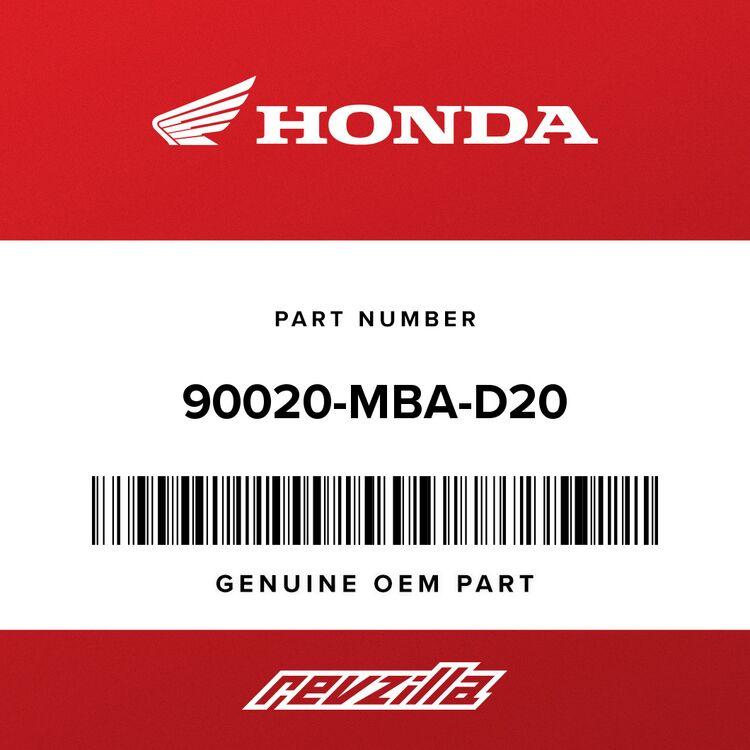 Honda BOLT ASSY., SPECIAL 90020-MBA-D20