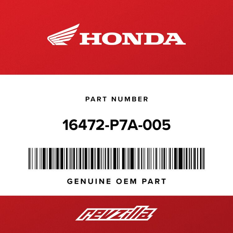 Honda SEAL RING, INJECTOR 16472-P7A-005