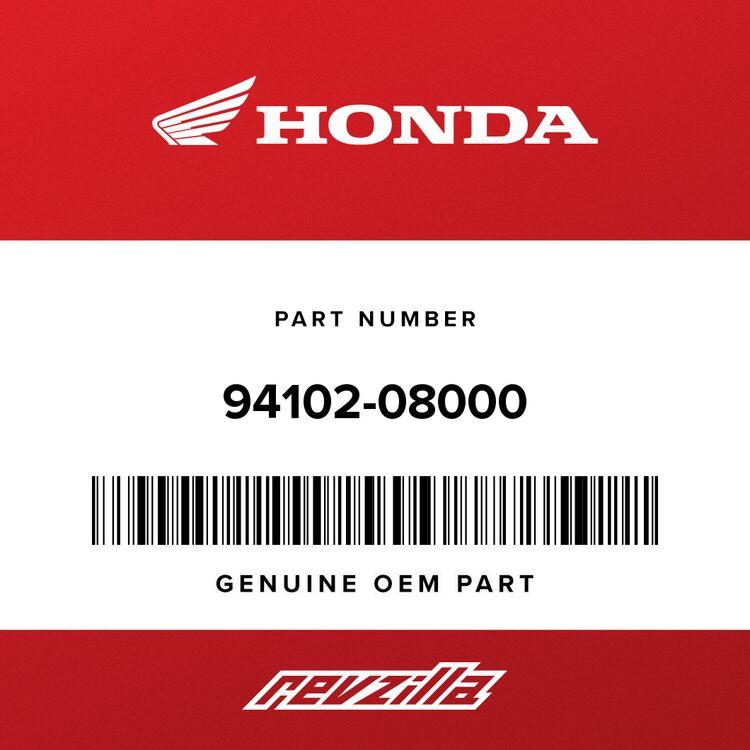Honda WASHER, PLAIN (8MM) 94102-08000