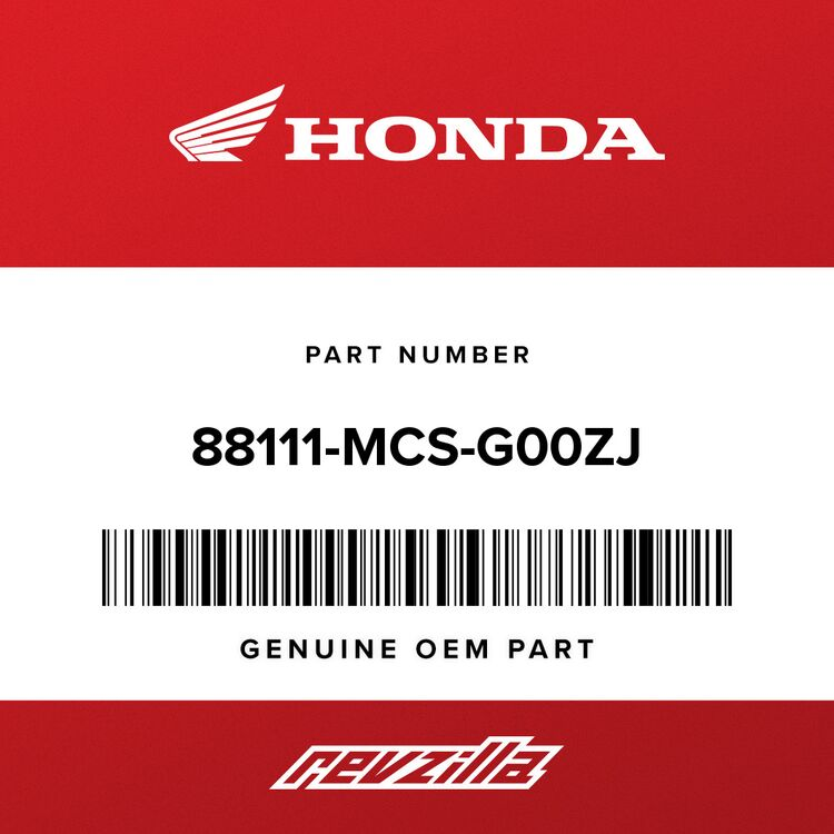 Honda COVER, R. MIRROR *NHB01* (GRAPHITE BLACK) 88111-MCS-G00ZJ