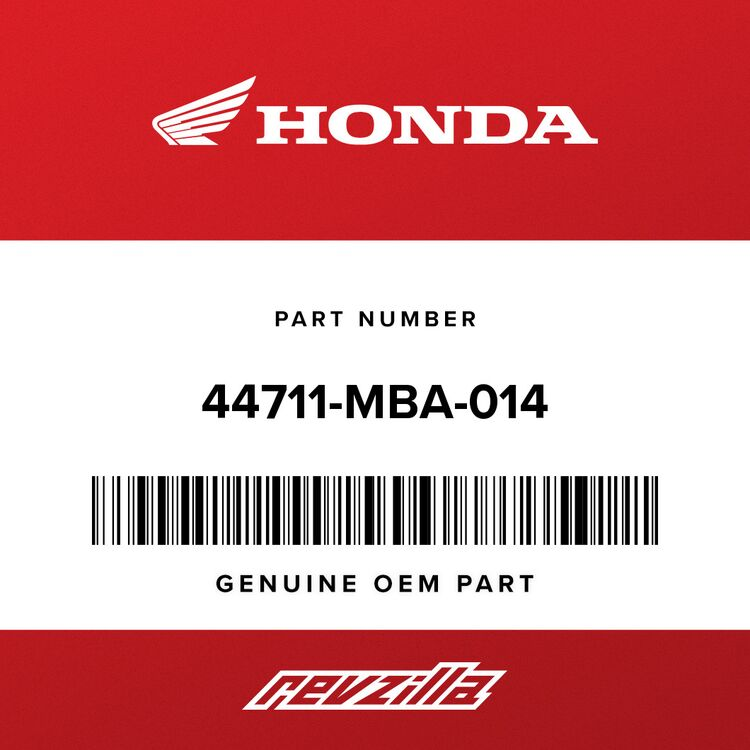 Honda TIRE, FR. (120/90-17) (M/C 65S) (DUNLOP) 44711-MBA-014