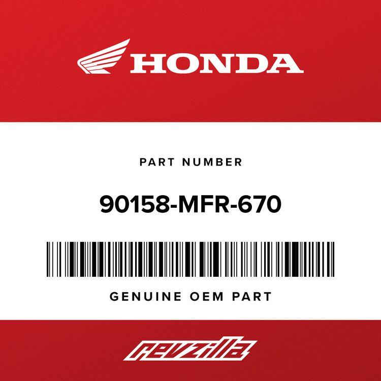 Honda BOLT, BRAKE STOPPER 90158-MFR-670
