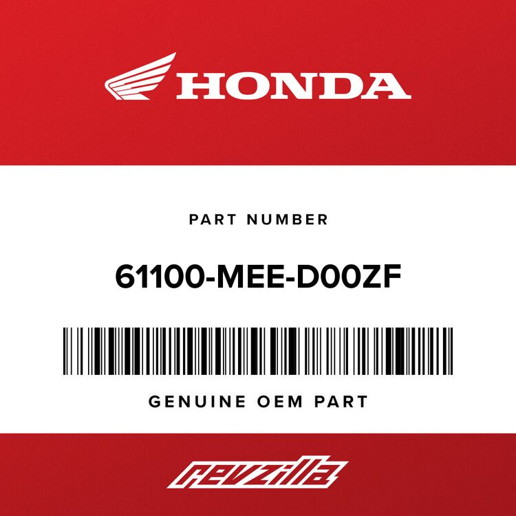 Honda FENDER, FR. *NHB01* (GRAPHITE BLACK) 61100-MEE-D00ZF