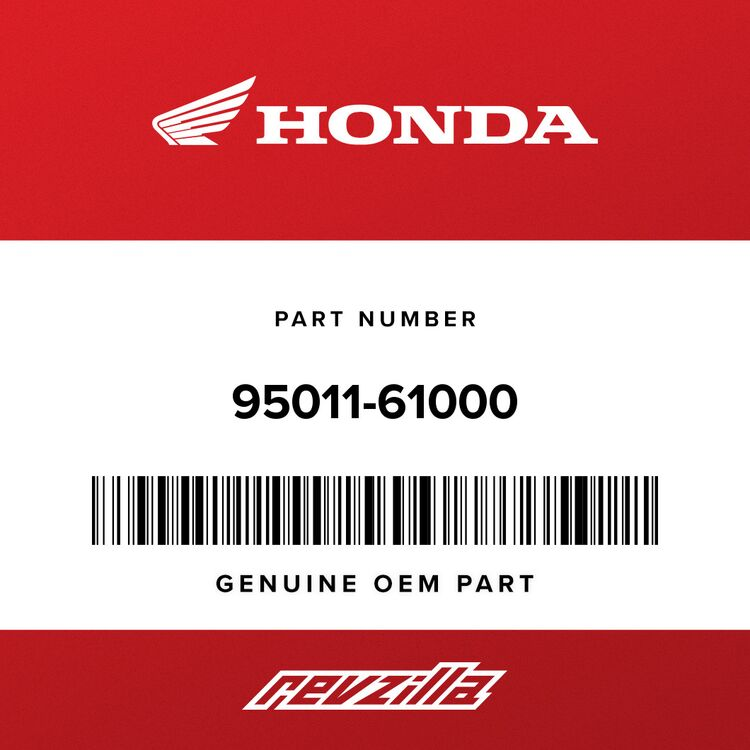 Honda RUBBER A, STAND STOPPER 95011-61000