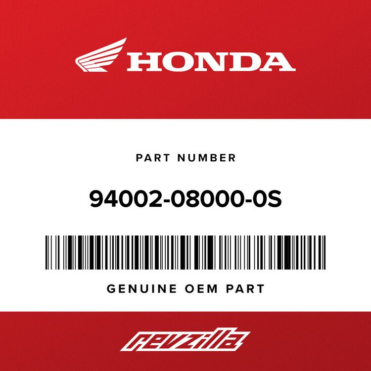 Honda NUT, HEX. (8MM) 94002-08000-0S