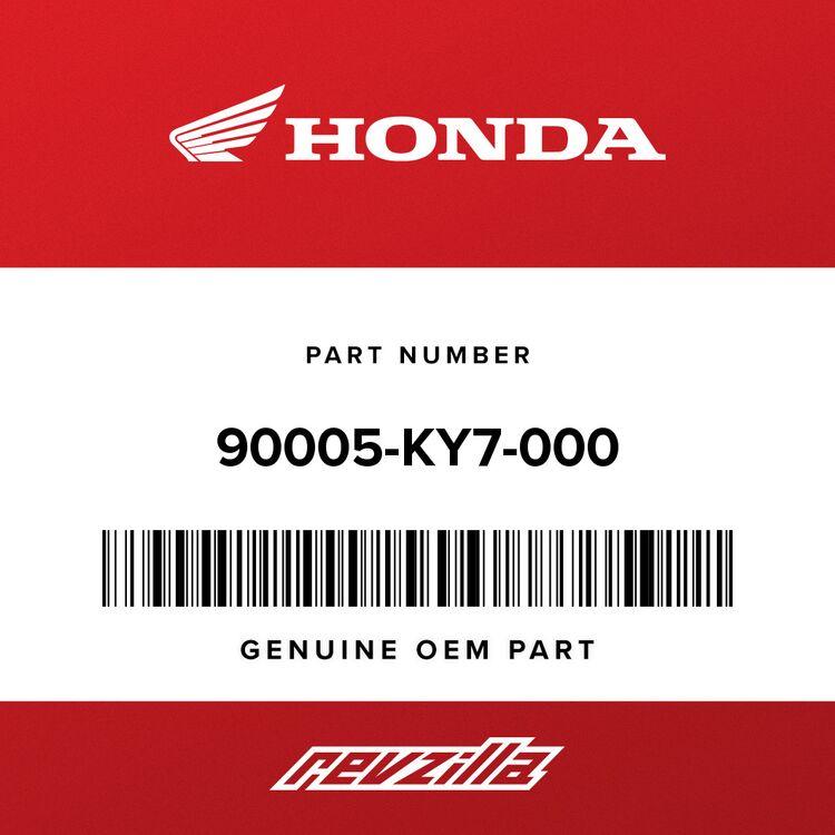 Honda SCREW, PAN (6X6) 90005-KY7-000