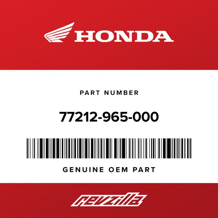 Honda RUBBER, SEAT SIDE (RIGHT SIDE) 77212-965-000