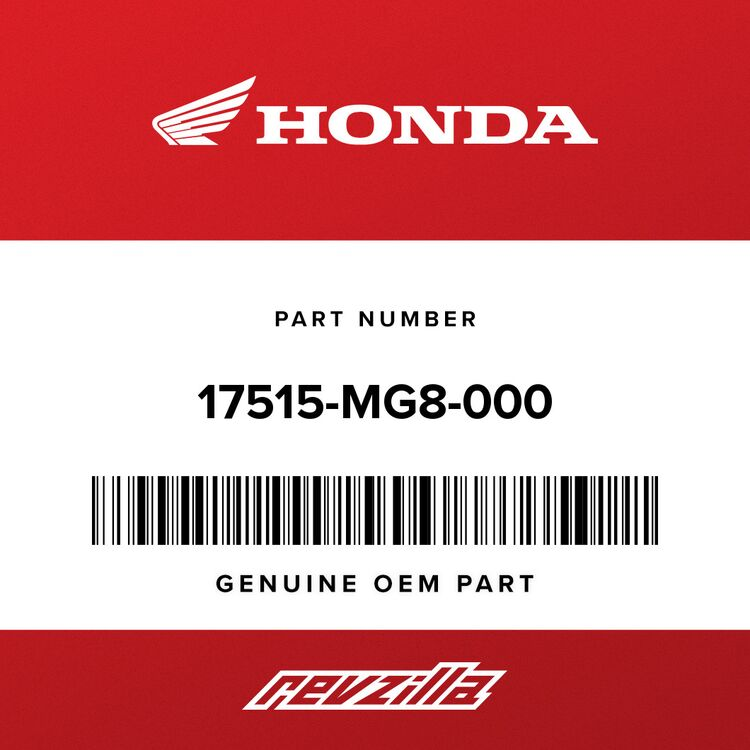 Honda TUBE, L. CARBURETOR FUEL 17515-MG8-000