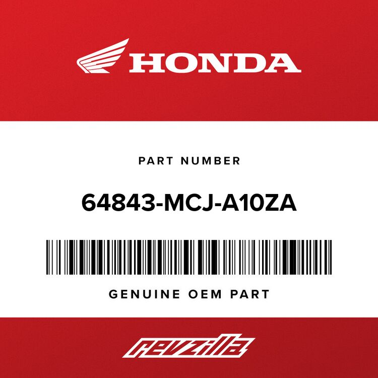 Honda MARK, L. RR. SEAT COWL (TYPE3) 64843-MCJ-A10ZA