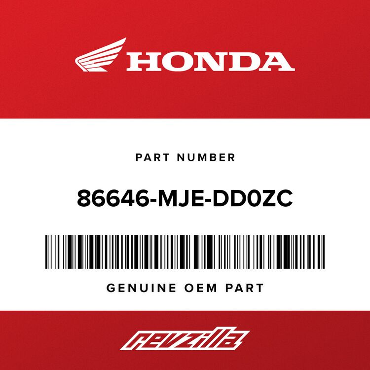 Honda STRIPE B, L. MIDDLE COWL A (TYPE1) 86646-MJE-DD0ZC