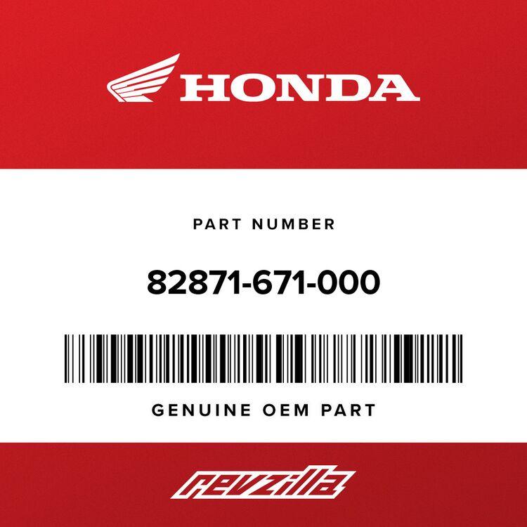 Honda GROMMET, DRAIN HOLE (25MM) 82871-671-000