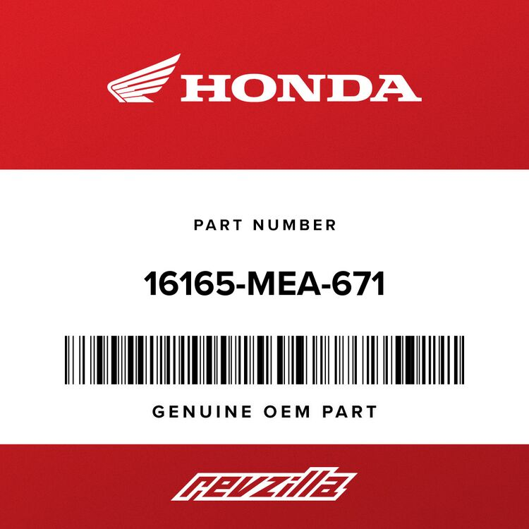 Honda HOLDER, NEEDLE JET 16165-MEA-671