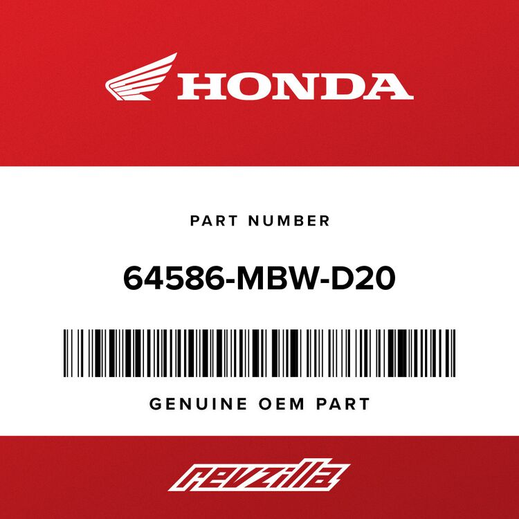 Honda RUBBER, AIR DUCT COVER SETTING 64586-MBW-D20