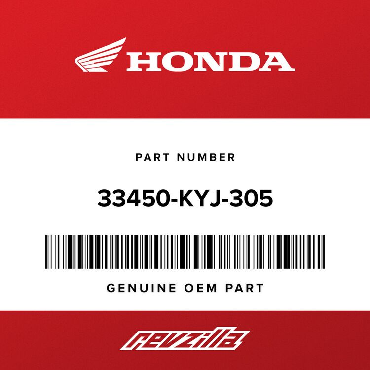 Honda TURN SIGNAL ASSY., L. FR. (12V 21W) (COO) 33450-KYJ-305