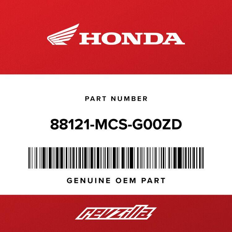 Honda COVER, L. MIRROR *NH138* (SHASTA WHITE) 88121-MCS-G00ZD