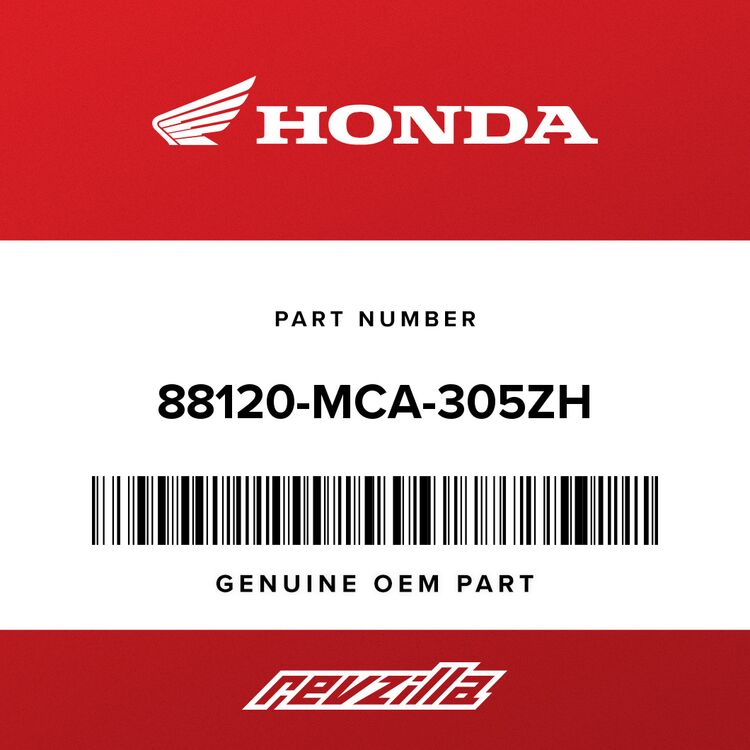 Honda MIRROR ASSY., L. BACK *R342C* (COO) (CANDY PROMINENCE RED) 88120-MCA-305ZH