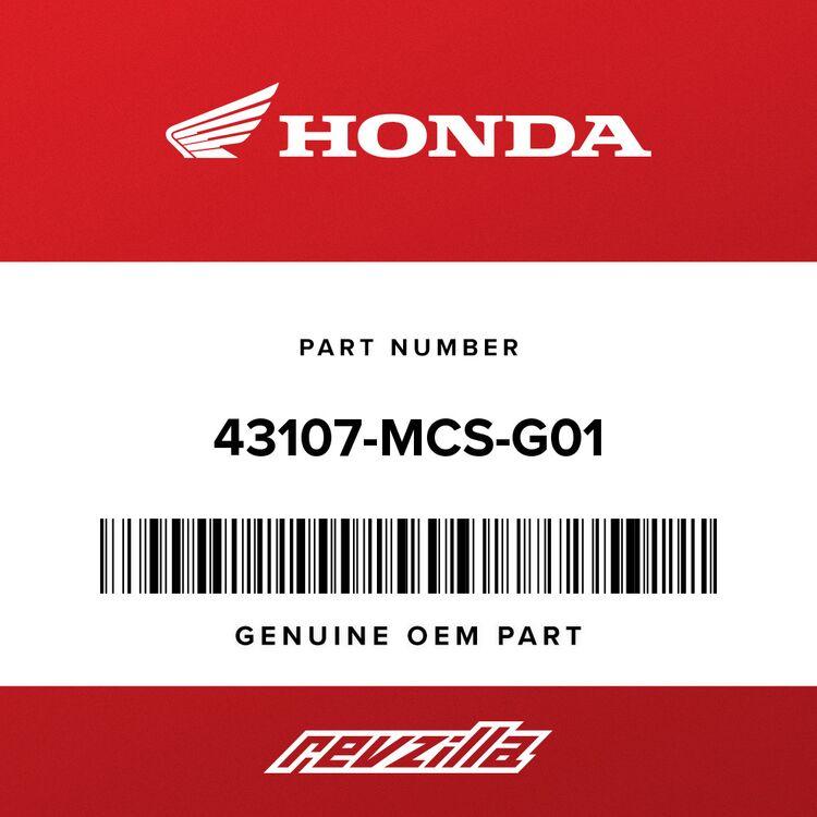 Honda PISTON A, L. 43107-MCS-G01