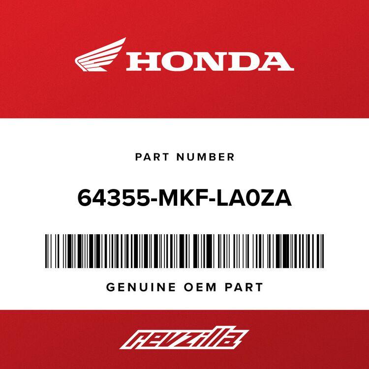 Honda COWL ASSY., L. MIDDLE *NHA86M* (WL) (MAT BALLISTIC BLACK) 64355-MKF-LA0ZA