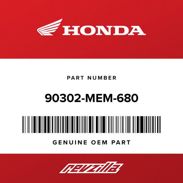 Honda NUT A, LOCK 90302-MEM-680