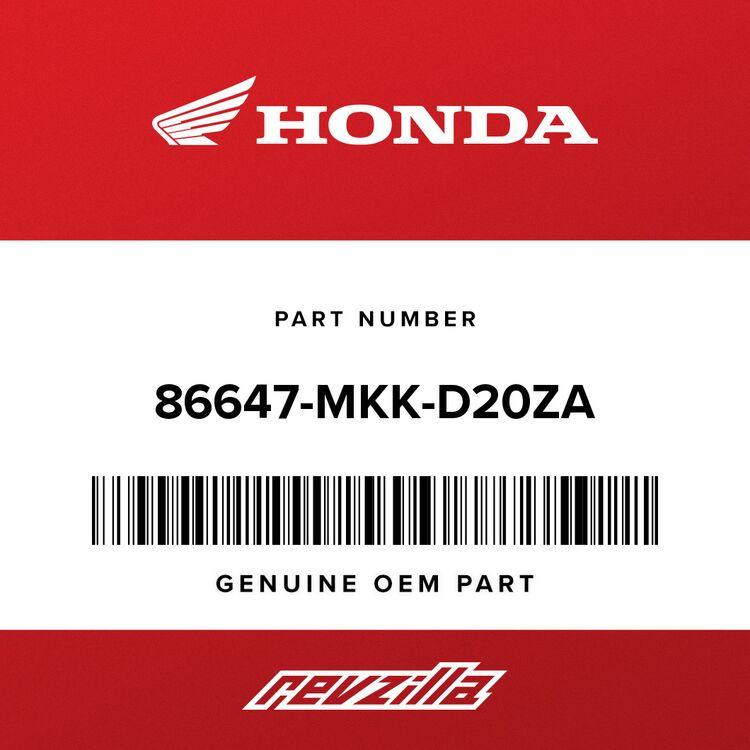 Honda STRIPE D, R. MIDDLE COWL (TYPE1) 86647-MKK-D20ZA
