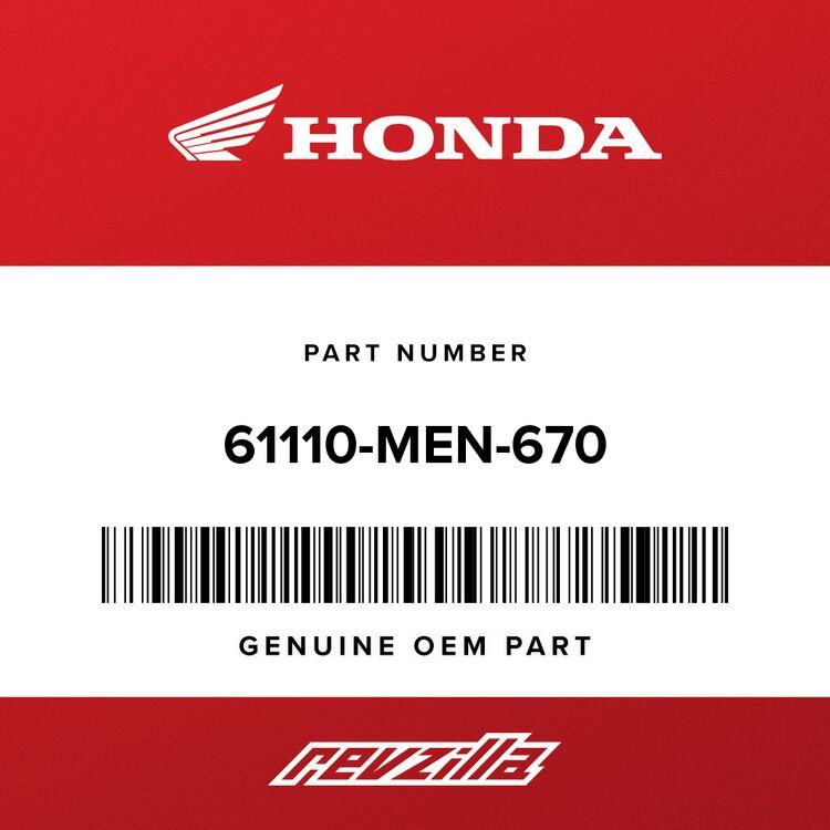 Honda FENDER SUB-ASSY., FR. 61110-MEN-670