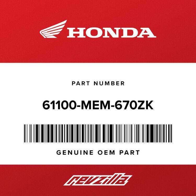 Honda FENDER, FR. *NH452P* (PEARL ALPINE WHITE) 61100-MEM-670ZK