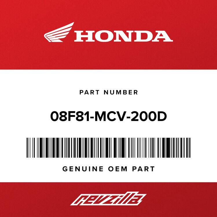 Honda COVER, BANJO BOLT (BILLET) 08F81-MCV-200D