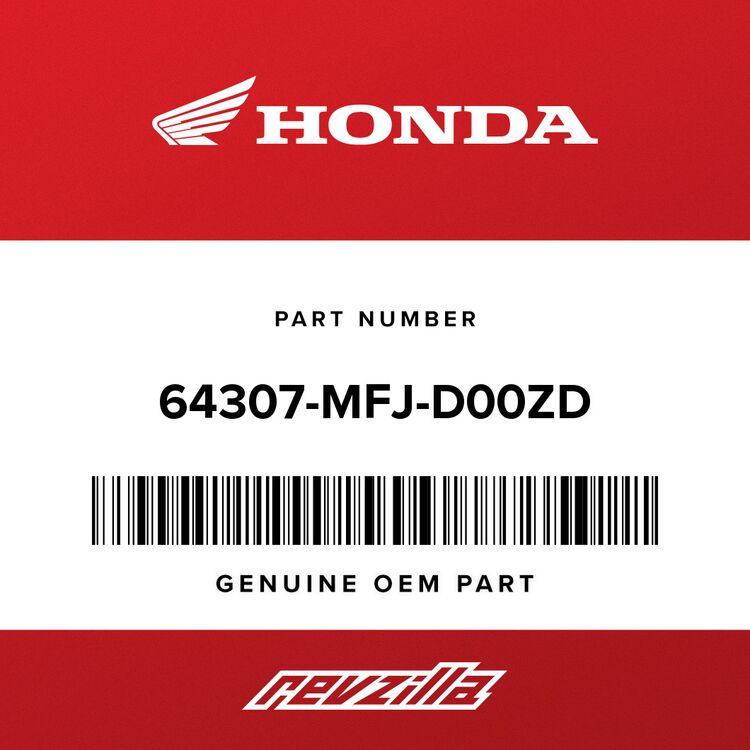 Honda STRIPE B, R. MIDDLE COWL (TYPE4) 64307-MFJ-D00ZD
