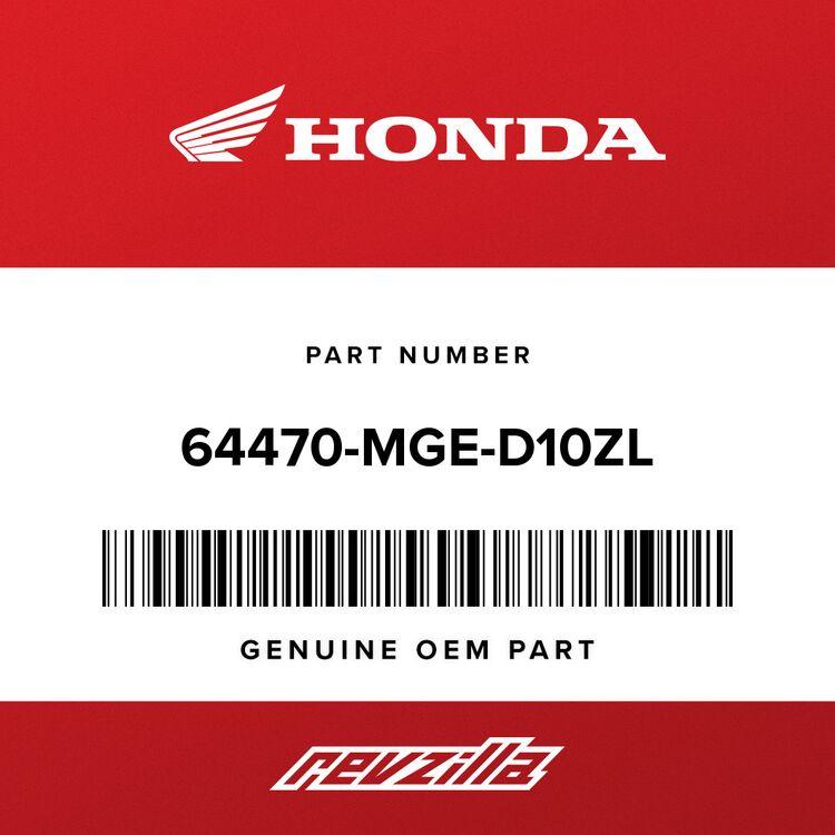 Honda COVER ASSY., R. FUEL TANK *PB215C* (CANDY TAHITIAN BLUE) 64470-MGE-D10ZL