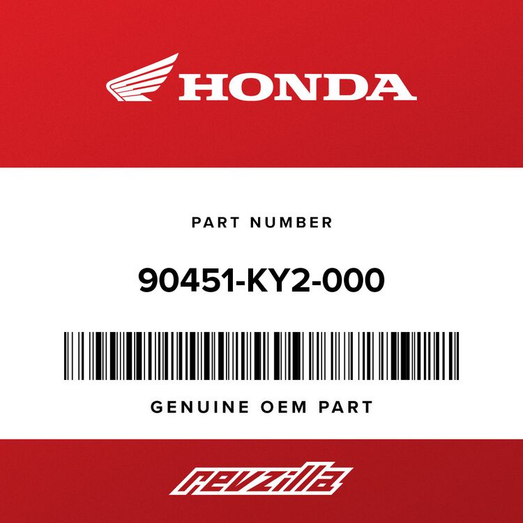 Honda WASHER, SPLINE (25X31X1.5) 90451-KY2-000