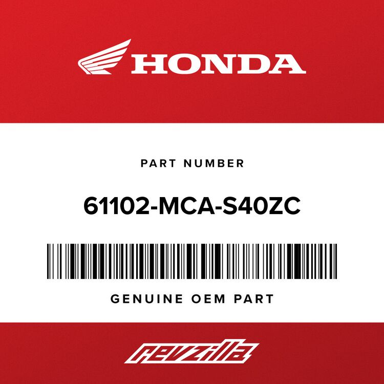 Honda COVER, R. FR. FENDER *NH146M* (ACCURATE SILVER METALLIC) 61102-MCA-S40ZC