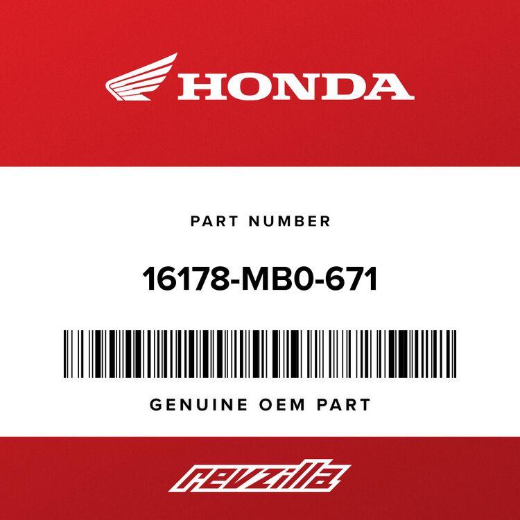 Honda PIN, KNOCK 16178-MB0-671