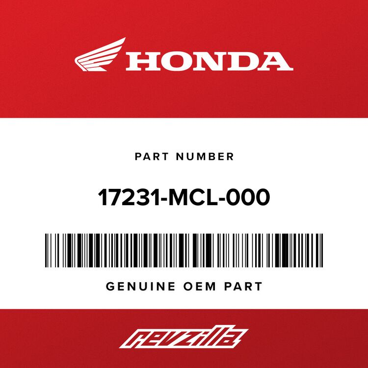 Honda COVER, AIR CLEANER 17231-MCL-000