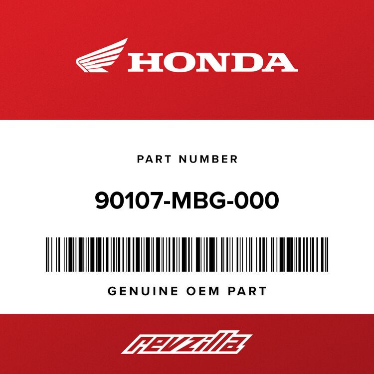 Honda BOLT, ONE-WAY (8MM) 90107-MBG-000