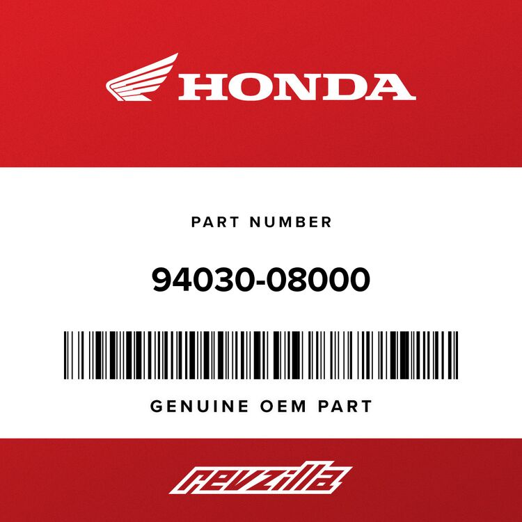 Honda NUT, HEX. (8MM) 94030-08000