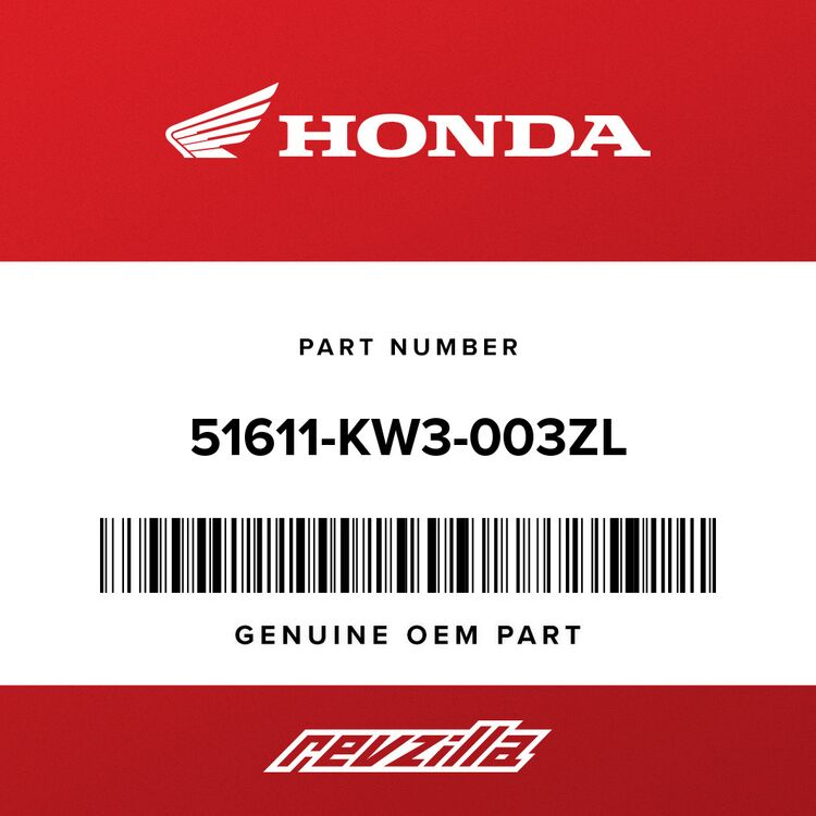 Honda BOOT, FR. FORK *NH1* (SHOWA) (BLACK) 51611-KW3-003ZL