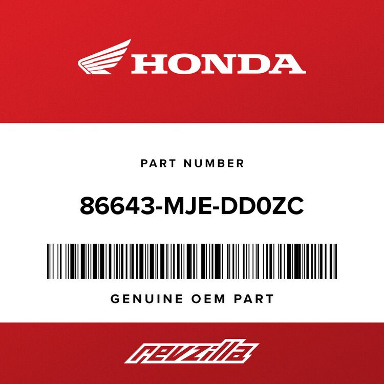 Honda STRIPE A, R. MIDDLE COWL A (TYPE1) 86643-MJE-DD0ZC