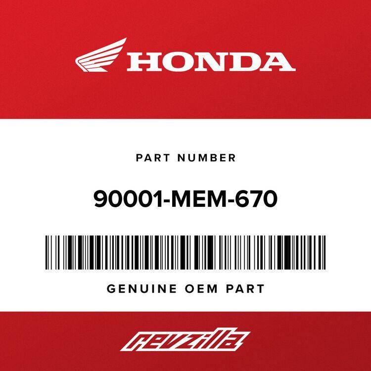 Honda BOLT, FLANGE (6X24) 90001-MEM-670